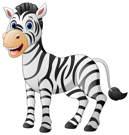 ass fun: Cartoon cute zebra Illustration