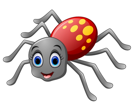 Cute spider cartoon