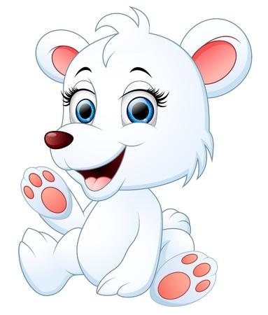 Mignon polaire dessin animé ours