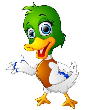 squeak: Cute baby duck presenting