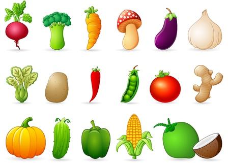 fruitage: Fresh vegetables cartoon
