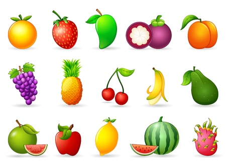 limon caricatura: de dibujos animados fruta fresca