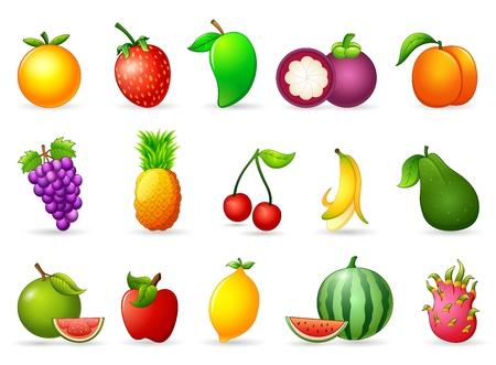 cartoon pineapple: Fresh fruit cartoon