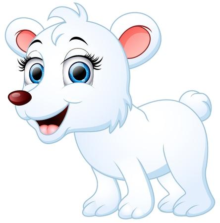cute bear: Cute polar bear cartoon
