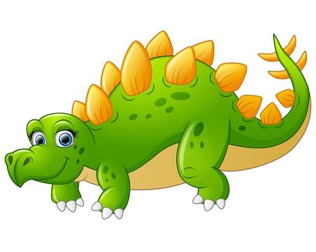stegosaurus: cute stegosaurus cartoon Illustration