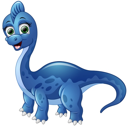 green cute: Cute cartoon dinosaur Illustration