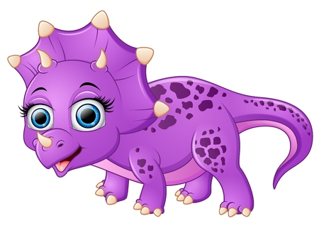 triceratops: Cute triceratops cartoon