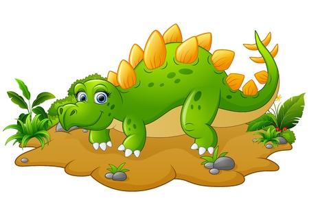 stegosaurus: historieta divertida estegosaurio