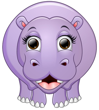 behemoth: Happy hippo cartoon