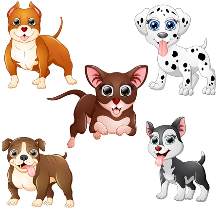 silly: Dog cartoon set collection