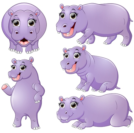 hipopotamo caricatura: la toma de series de dibujos animados hipop�tamo