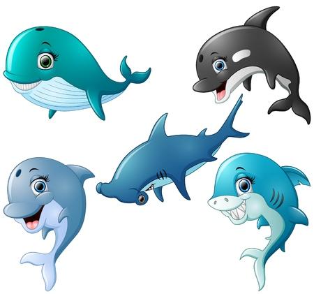 Fish cartoon set collection Иллюстрация
