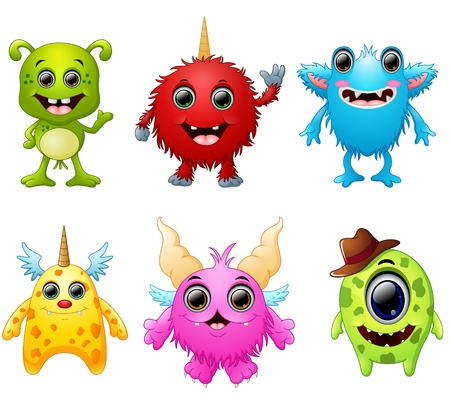Halloween monster set collection Stock Photo
