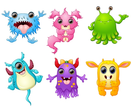 scary story: Halloween monster set collection Illustration