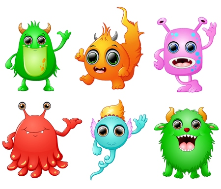 Halloween monster set collection Illustration