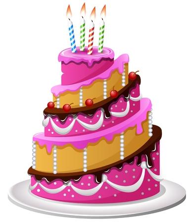 Gâteau d'anniversaire de bande dessinée Banque d'images - 61449232