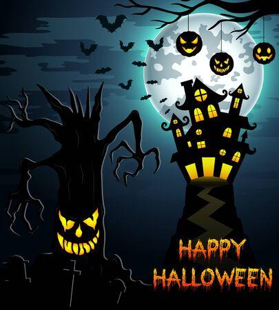 night: Halloween night background