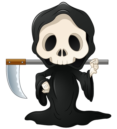 Grim reaper cartoon  イラスト・ベクター素材