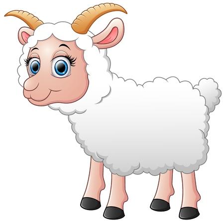 cute cartoon: Cute sheep cartoon Illustration
