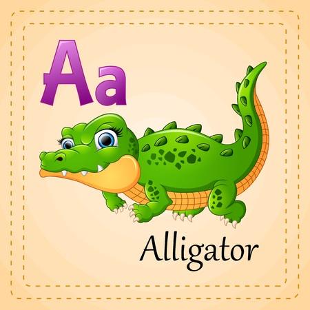 alligators: Animals alphabet: A is for Alligator