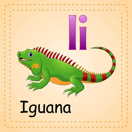 Animals alphabet: I is for Iguana