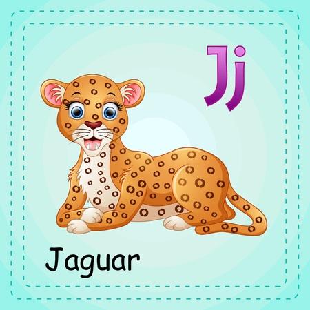 Animals alphabet: J is for Jaguar Illustration
