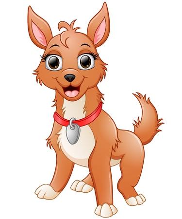 cute cartoon: Cute dog cartoon