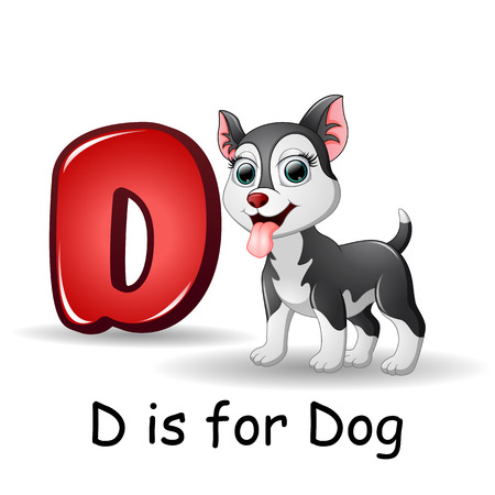 dog school: Animals alphabet: D is for Dogs