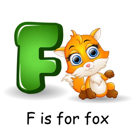 Animals alphabet: F is for Fox