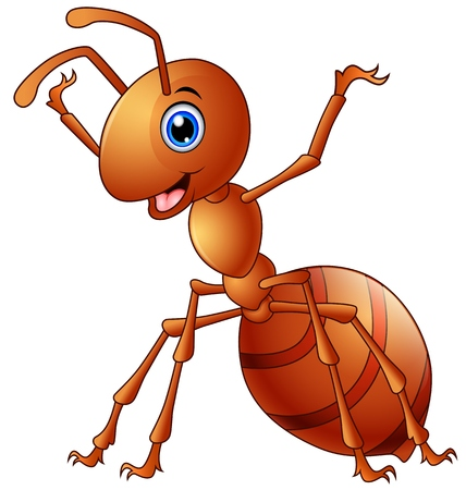 antennae: Vector illustration of Cute ant cartoon Illustration
