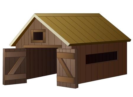 Bauernhaus-Cartoon Standard-Bild - 65486744