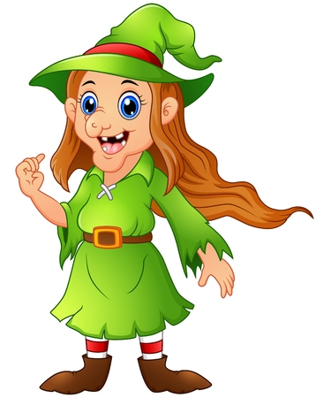 christmas costume: Old witch in green christmas elf costume
