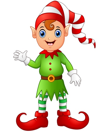 Christmas boy elf cartoon Illustration