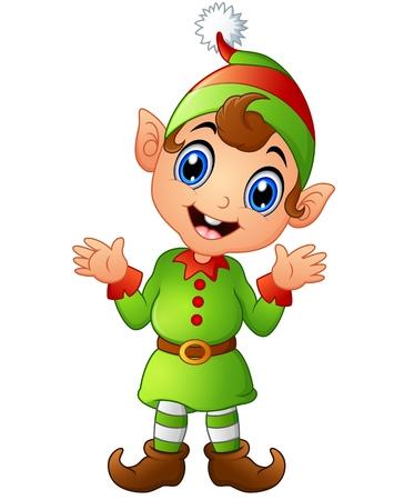 pointy hat: Christmas elf cartoon