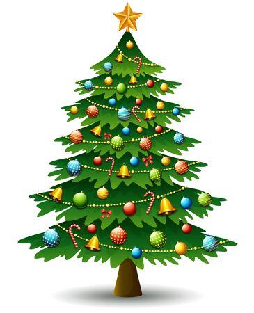 Christmas tree on a white background Illustration