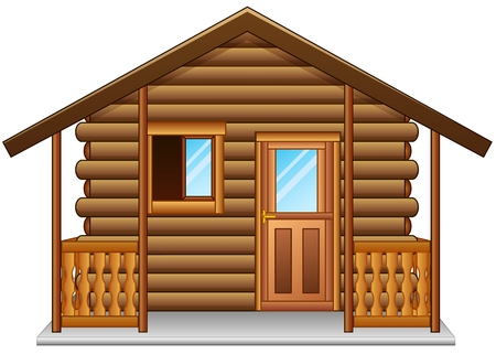木造住宅は、ホワイト バック グラウンドを分離  イラスト・ベクター素材