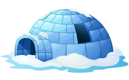 Igloo isolated a white background
