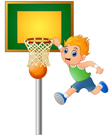 teammates: Cartoon boy playing basketball