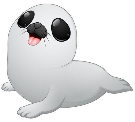 baby seal: Cute baby seal cartoon