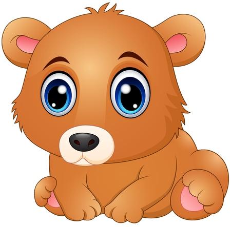 huggable: Cute baby bear cartoon