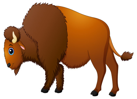 Cute bison cartoon Stock Photo