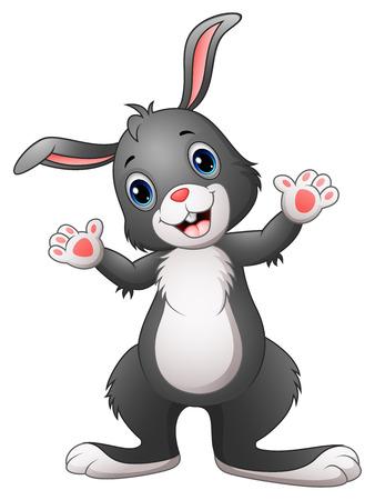 Feliz conejo de dibujos animados Ilustración de vector