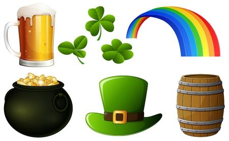 patrick's: Set of St Patrick s Day Illustration