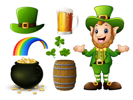St Patricks Day elements collection Illustration