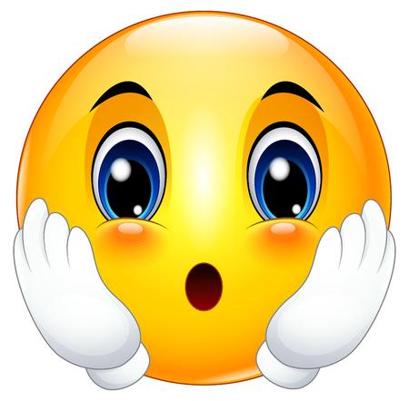 Emoticon de dibujos animados lindo sorprendió Foto de archivo - 75373550