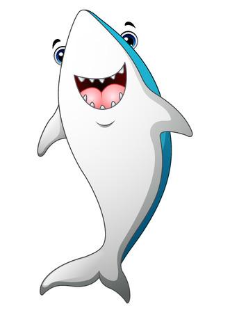 killer waves: Happy shark cartoon