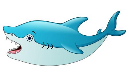 Cute shark cartoon Illustration