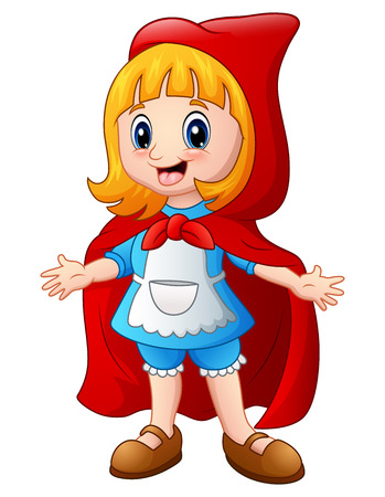 Vector illustration of Little red riding hood Illustration