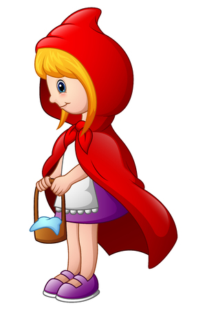 Vector illustration of Red Riding Hood