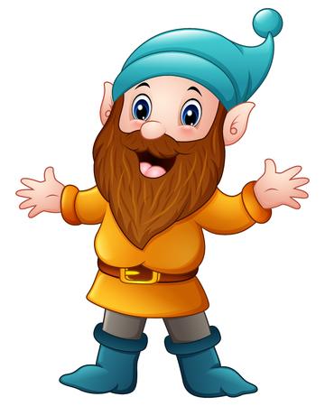 Vector illustration of Cute dwarf cartoon Illustration